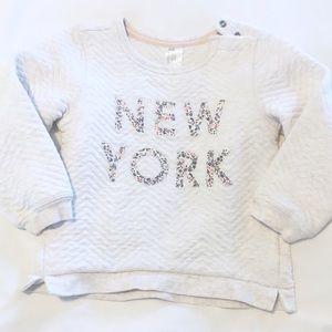 New York Applique H&M textured sweatshirt